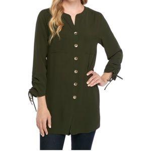 Ladies long tunic- Olive